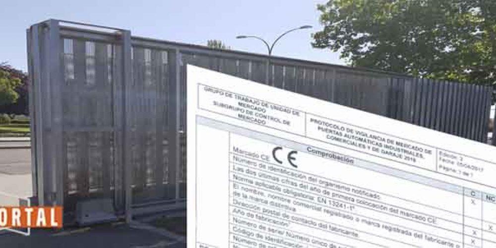 Campaña de inspecciones del Ministerio para puertas de garaje, comerciales e industriales