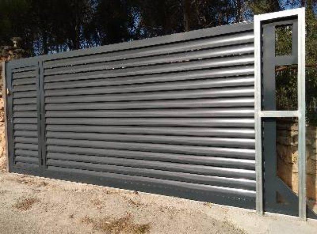 Puerta automatica de garaje corredera